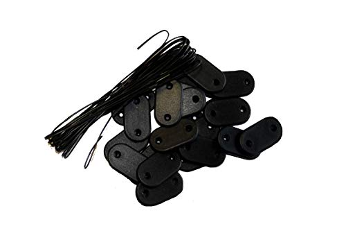 MAILLESTORE Kit de Fixation Brise-Vue - Lot de 5 Kits (26 pastilles + 4m de Fil par kit) Noir Lot de 5 Kits