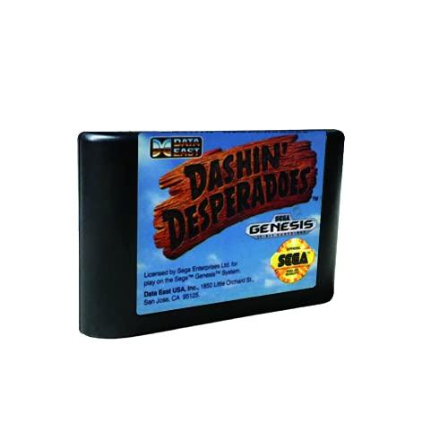 Royal Retro Dashin' Desperadoes - USA Label Flashkit MD Electroless Gold PCB Card für Sega Genesis Megadrive Videospielkonsole (regionsfrei)