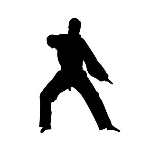 Wangchengp 10.5 * 15CM China Kung Fu Karate autosticker vechtende liefhebbers autostickers en stickers raamdecoratie (5PS