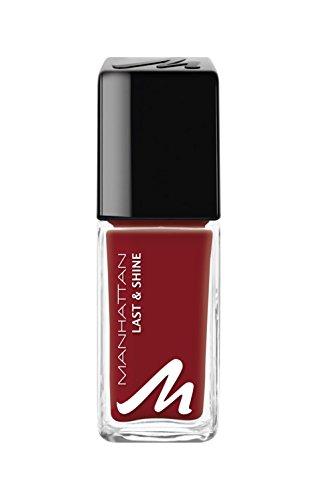 Manhattan Last & Shine Nagellack – Roter, glänzender Nail Polish für 10 Tage perfekten Halt – Farbe Love Gossip 660 – 1 x 10ml