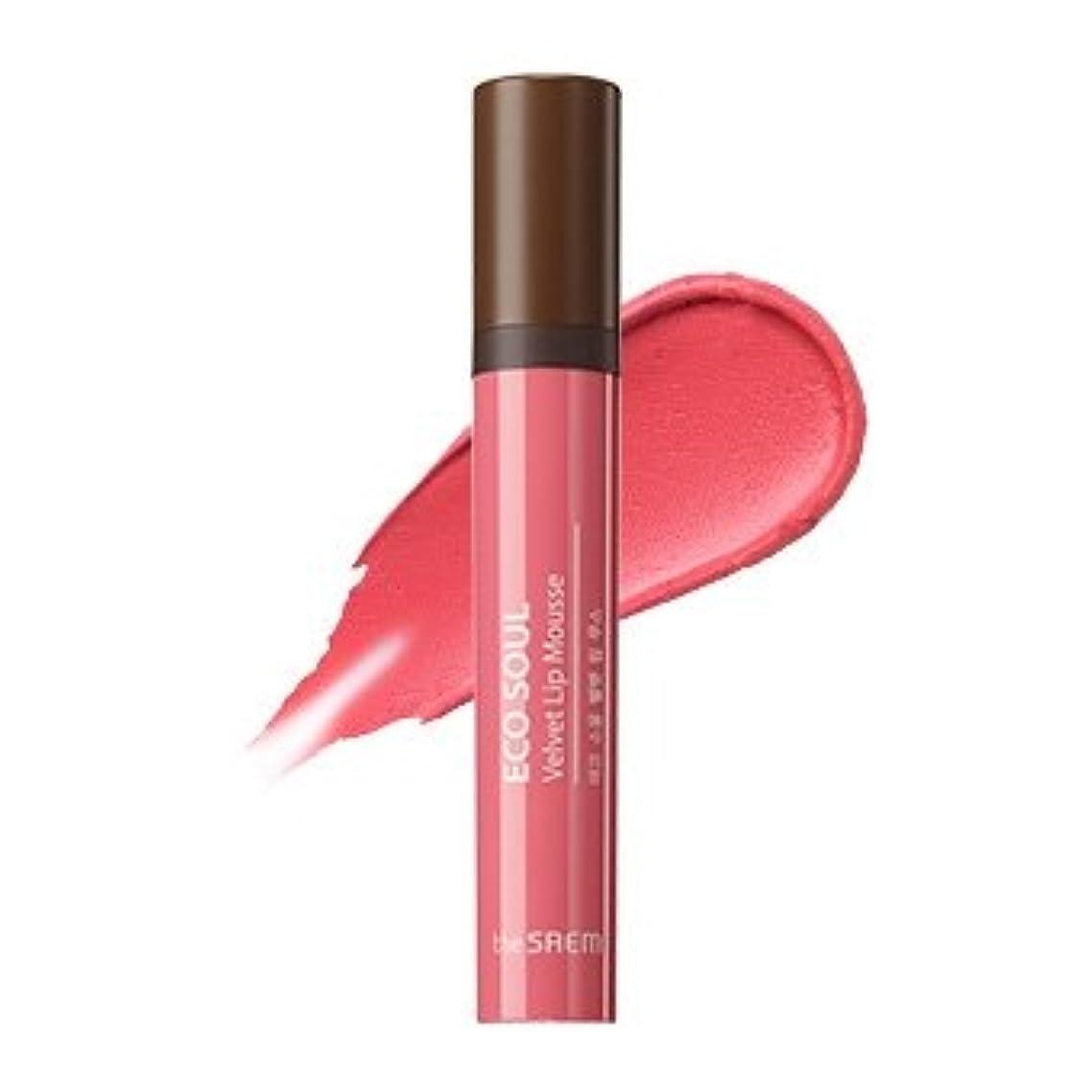 ナンセンスクライマックス不規則性the SAEM Eco Soul Velvet Lip Mousse 5.5g/ザセム エコ ソウル ベルベット リップ ムース 5.5g (#CR01 Bless You) [並行輸入品]