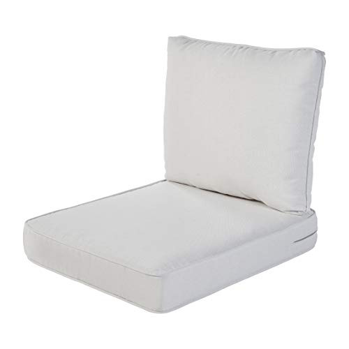 Quality Outdoor Living 29-LN02SB All-Weather Deep Seating Chair Cushion, 23 x 26, Linen