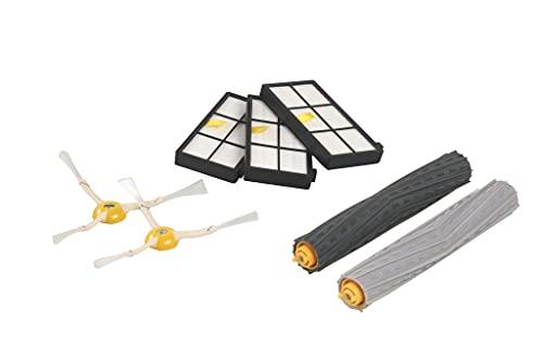 iRobot Originalteile - Roomba 800 und 900 Serie Nachfüllsatz -3 Hochleistungsfilter, 2 Seitenbürsten und 1 Set der Multibodenbürsten