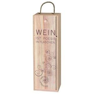 Räder P.e.T. Vino Weinkiste Wein ist Poesie in.