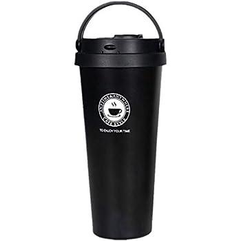 Eribuka 真空断熱 タンブラー ふた付き おしゃれ ステンレス 保温 コーヒー (700mlブラック)