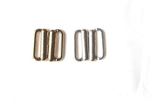 Bikini-sluiting 10 mm bikinisluiting bikini metaal zilver goud 85201