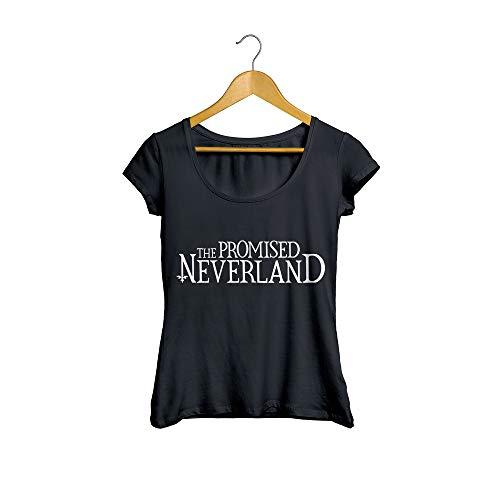 Camiseta Baby Look The Promised Neverland Anime Feminino Preto Tamanho:M