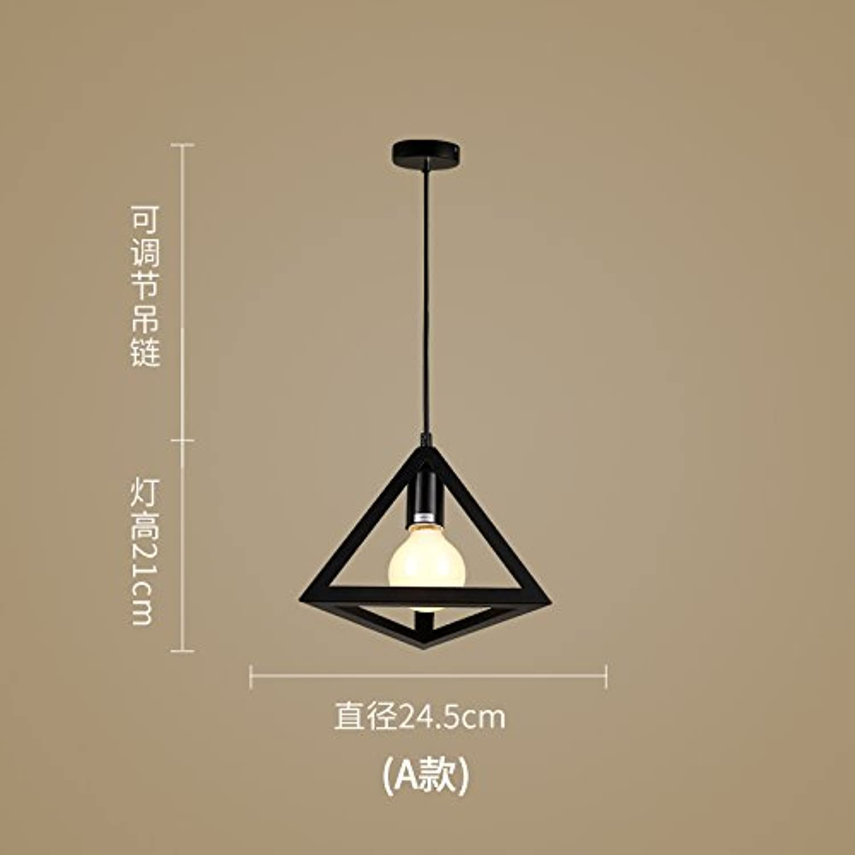 Luckyfree Moderne, einfache Kreative Eisen Pendelleuchte Zimmer Bar Cafe Restaurant Küche Flur Lampen Deckenleuchte Kronleuchter A+Lampe Led
