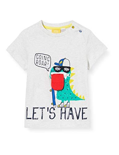 Chicco T- Shirt Manica Corta Bimbo Con Tasca Interna per Lingua Pull sans Manche, Gris (Grigio 091), 68 (Taille Fabricant: 068) Bébé garçon