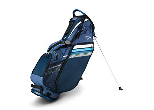 Callaway Golf 2019 Hyper Lite 3 Stand Bag, Navy/Blue/White, Single Strap