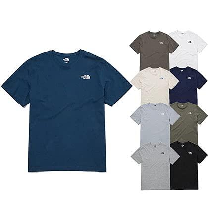 ノースフェイス ホワイトレーベル Tシャツ TNF BASIC COTTON S/S R/TEE ベーシック コットン ショートスリーブ ラウンドTEE NT7UM20A/B/C/D/E/F/G/H/I ウェア [並行輸入品] (Ivory, 90(S))