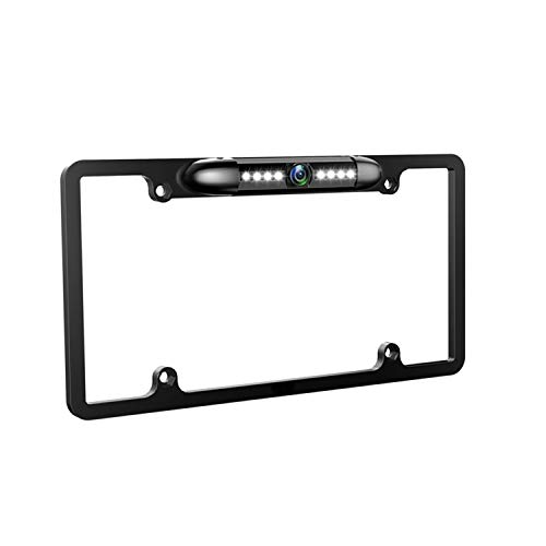 License Plate Rear View Backup Camera Reverse Parking Back Camera 8 LED Night Vision Waterproof 170° Viewing Angle Universal Car License Plate Frame Mount for Cars Easy to Install