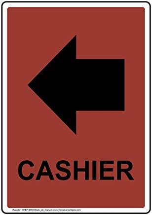 Vertikales Kassenschild, lustiges Wanring Schild, Torschild, Hence Yard Schild, 20,3 x 30,5 cm mit englischem Text und Symbol, schwarz auf Canyon