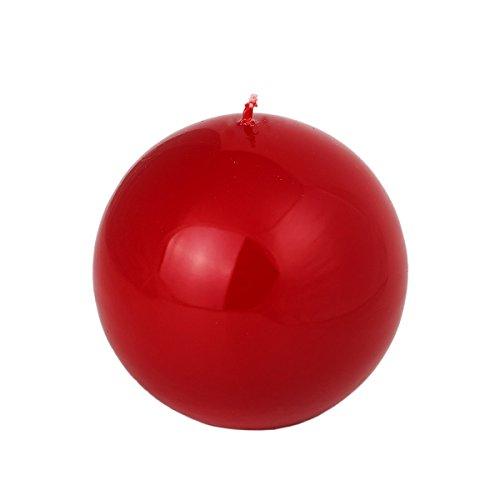 rote Kugelkerzen Lack 100 mm Durchmesser mittel große Kugel Kerze