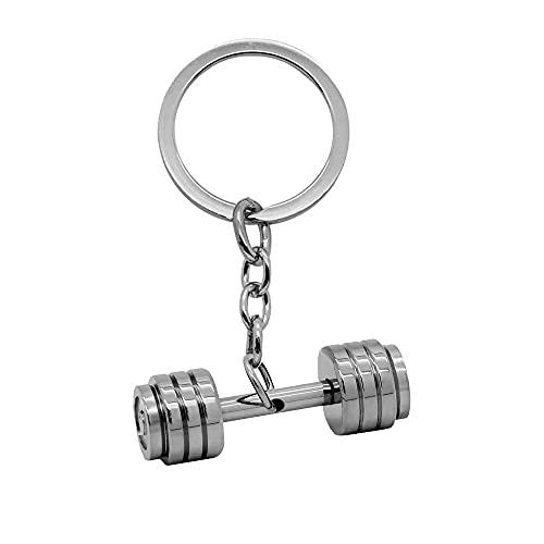 tumundo® Schlüssel-Anhänger Hantel Box-Handschuh Gewicht Fitness Bodybuilding Schlüsselring Edelstahl + Geschenk-Etui, Variante_:Variante 8