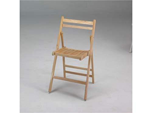 silla plegable de Madera en color natural