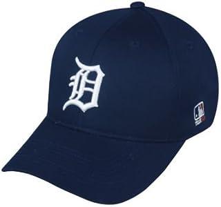 MLB ADULT Detroit TIGERS Home Blue Hat Cap Adjustable Velcro TWILL