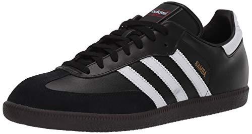 adidas Zapato de fútbol Samba para hombre, negro (Negro/Blanco/Negro), 46.5 EU