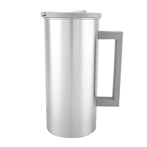 Waterkoker van roestvrij staal met handvat deksel, 1800 ml, voor sap koffie thuis, keuken in de buitenlucht grijs