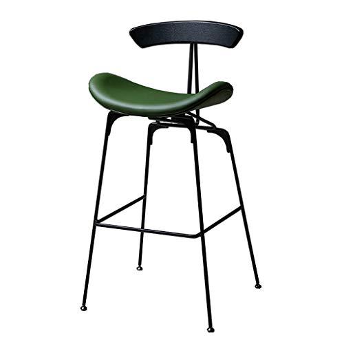 Taburetes De Bar Metal con Respaldo Sillas Bar Industriales Taburete Bar Cuero IKEA Silla De Comedor Rústica Verde For Cocina Pub Patio Taburete Café