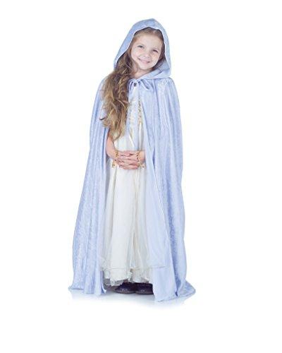 Kid's Light Blue Panne Princess Renaissance Elegant Cape - Lavender Panne Cape
