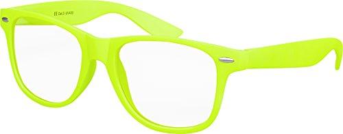 occhiali nerd BALINCO Occhiali da sole Nerd d'alta qualità con lenti trasparenti gomma opaca retrò vintage | Unisex | con cerniera a molla - 17 diversi colori/modelli tra cui scegliere