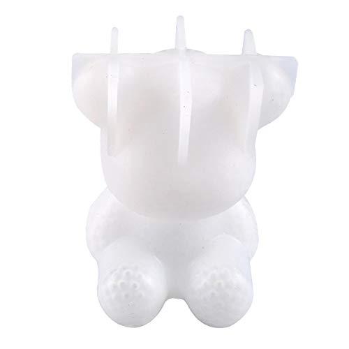 3D Teddybär Silikonform - 3D Bär Epoxidharz Formen - Silikonformen Fondant - Seifenform Kerzenform für Süßigkeiten Gummifondant, Kuchen Backen, Cupcake Topper Dekor DIY Craft - Zufällige Farbe
