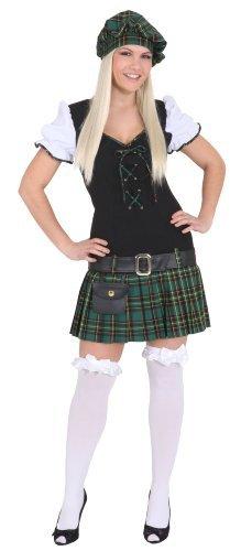 Scottish Girl grün : Kleid, Gürtel und Barett, Erwachsenen-Größe:36 by Orlob