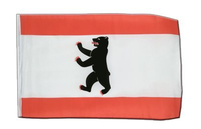 Deutschland Berlin Flagge, Fahne 30 x 45 cm, MaxFlags®