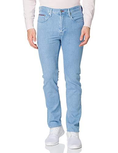 Tommy Hilfiger Slim Bleecker STR Blue Jeans, Blu Montana, W32 / L36 Uomo
