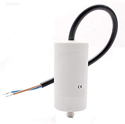 Motor Anlauf Kondensator Anlaufkondensator Motorkondensator 2uF 2,5uF 4uF 6uF 8uF 10uF 12uF 16uF 20uF 25uF 30uF 40uF 50uF (6µF ±5% / 450V / ca. 18cm Kabel W9 Ø 35x65 mm)