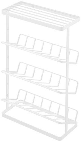 YAMAZAKI home Tower Free Standing Shower Caddy  Bathroom Organizer Storage Holder, White