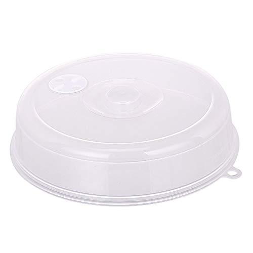 JFW Cubierta de placa de microondas con ventilación de vapor, cubierta de salpicadura de microondas transparente