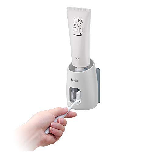 Andiker Automatischer Zahnpastaspender für Erwachsene, Zahnpasta Spender Sensor, Zahnpasta-Quetscher-Wandhalterung im Badezimmer (weiß)