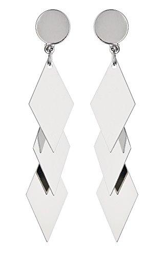 Clip On Earrings - Silver Plated Drop Earring - Kallie S