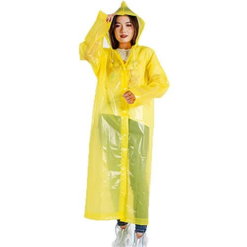 Crazyfly Impermeable para adultos, EVA ligero translúcido engrosado, con capucha, unisex, portátil, ideal para actividades al aire libre