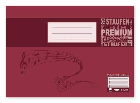 Notenheft A5 8 Blatt Elementar-Notenheft