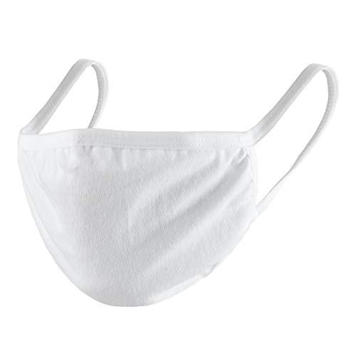 Evoni 3er Pack Kinder Stoffmaske Gr. S in Weiß aus Baumwolle mit Filter