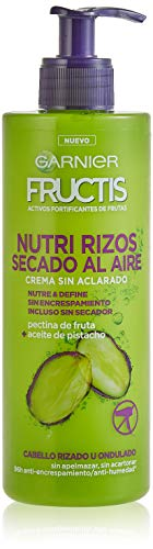Garnier Fructis - Nutri Rizos Secado al Aire Crema Sin Aclarado para Pelo Rizado u Ondulado - 400 ml