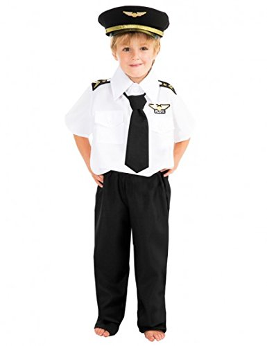 Chaks C4105140, Déguisement Pilote avion de ligne 140cm, 10-12 ans