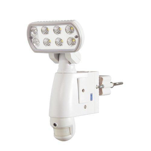 日動工業 カメラ付LED防犯ライト センサー SLS-8W-C