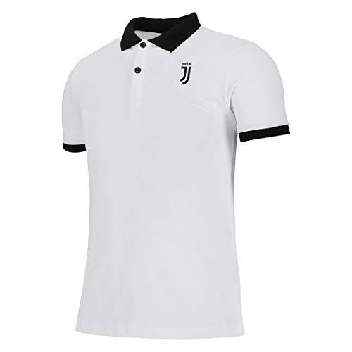 Juventus Polo Bianca con Logo J e Colletto Nero - Originale - Bambino - Taglia 10 Anni