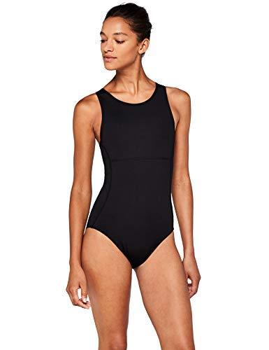 Marchio Amazon - AURIQUE Costume da Bagno Donna, Nero (Black), S