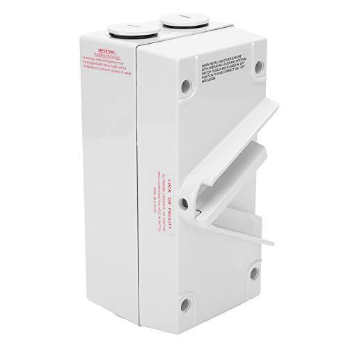 Interruptor resistente al fuego PA66 de pared resistente a impactos de CA 250V PA66 para lugares al aire libre(CF-1P63A)