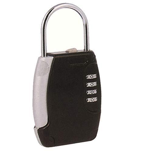 Feixunfan Schlüsselkasten Mit Passwort Einstellung 4-stelligen Sicherheitsschlüssel Ist Eine Kombination Aus Türgriffe Wall Hotel Schlüsselkasten (Farbe : Schwarz, Größe : Einheitsgröße)