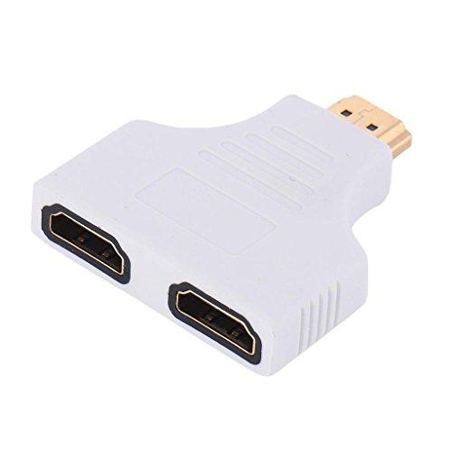 Sharplace Maschio a 2 Femmine HDMI Da 1080p Adattatore Convertitore Splitter