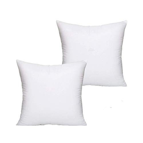 Vital Choice Cushion Inner Pads (Pack of 2)-Bounce Back White Hollowfibre Fillers-Soft Hypoallergenic Shams Insert 18' x 18' (45 x 45 cm) MADE IN UK