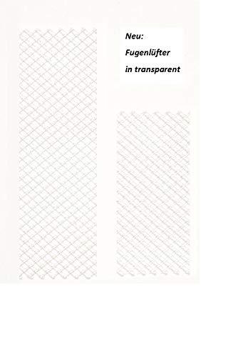 Fugenlüfter, Wespenschutz, Stoßfugengitter, Stoßfugenlüfter, Nagerschutz, TRANSPARENT (50, 8,00 cm x 4,00 cm)