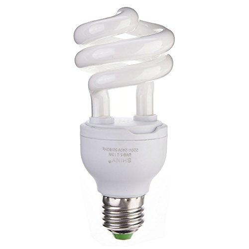 Bloomma Luce Rettile, E27 UVB 5.0/10.0 Lampada Fluorescente per terrari Tropicali 13W per rettili