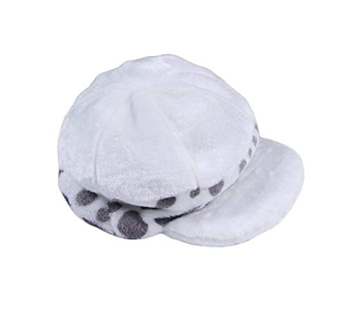 YSYSZYN SANKANG Anime Trafalgar Law Hat Cosplay Kostüme White Spot Plüsch Lässige Cap (Color : A)